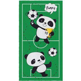 Toalha-Felpuda-de-Banho-Estampada-Panda-Futebol-60-cm-x-110-m-Com-Embalagem